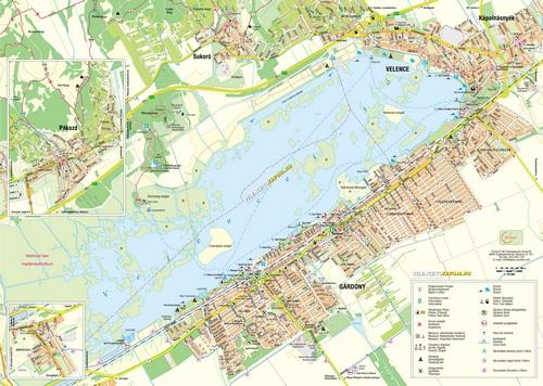 Velencei - tó részletes térkép